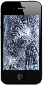 iphone, 4, broken, bullet hole, Creative common
