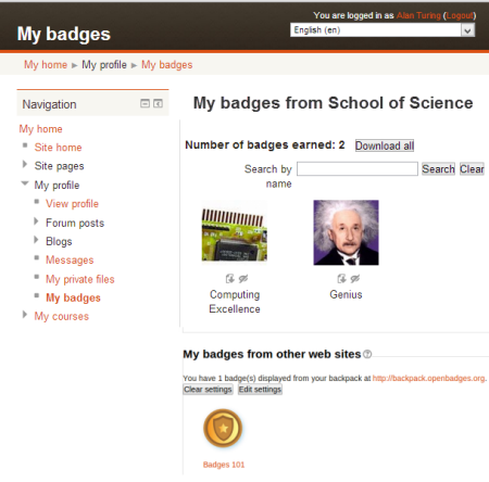 moodle, badge, badges, 2.5