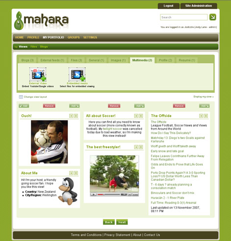 Mahara, eportfolio, school, education